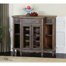 Suzette Wood Bar Cabinet with Wine Storage
