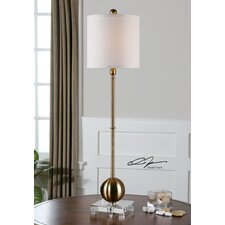 """Laton 35"""" H Table Lamp with Drum Shade"""