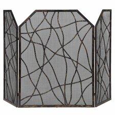 Dorigrass 3 Panel Metal Fireplace Screen