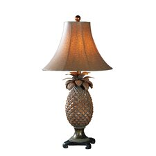 "Island Anana Pineapple 31"" H Table Lamp with Bell Shade"