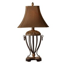 "Works Jenelle 37"" H Table Lamp with Bell Shade"