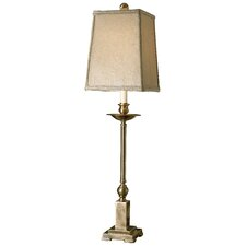 """Collected Metals Lowell Candlestick 34"""" H Table Lamp with Rectangular Shade"""