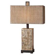 "Dark Bronze 29"" H Table Lamp with Rectangular Shade"