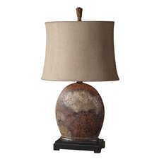 "Yunu 30"" H Table Lamp with Oval Shade"