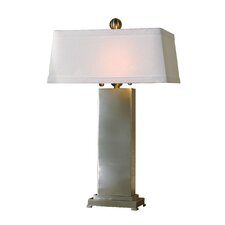 """Metal Contempo 29"""" H Table Lamp with Rectangular Shade"""