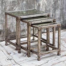 Keanna 3 Piece Antiqued Nesting Table Set