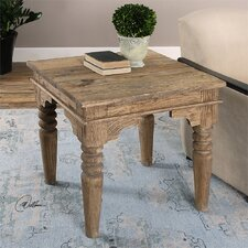 Khristian Reclaimed Wood End Table
