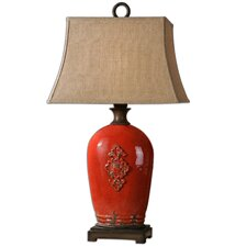 """Mataline 37"""" H Table Lamp with Bell Shade"""