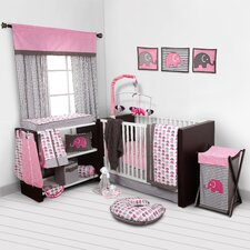Elephants 9 Piece Crib Bedding Set