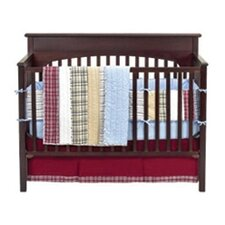 Boys Stripes and Plaids 4 Piece Crib Bedding Set