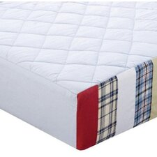 Boys Stripes and Plaids Quilted Changing Pad Cover