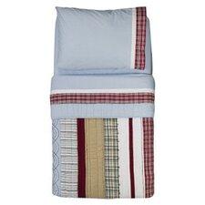 Boys Stripes and Plaids 4 Piece Toddler Bedding Set