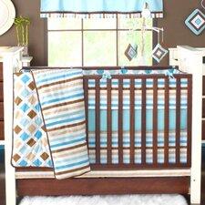 Mod Diamonds and Stripes 10 Piece Crib Bedding Set