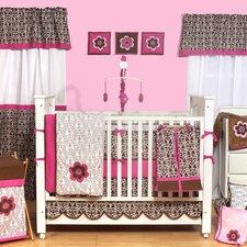 Damask 10 Piece Crib Bedding Set with Bumper