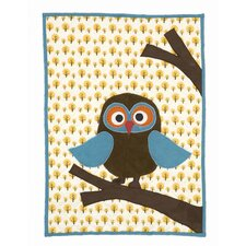 Owl Quilted Cotton Blanket