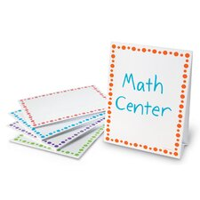 Center Signs Free-Standing Whiteboard, 1' x 1' (Set of 5)
