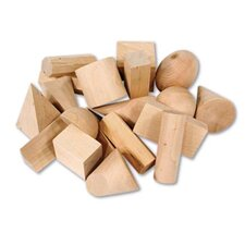 19 Piece Wooden Geometric Solids  Set