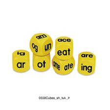 6 Piece Phonics Cubes Word Family Pack Letters