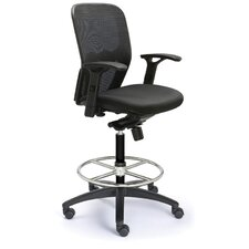 Height Adjustable Drafting Polo Chair with Mesh Back