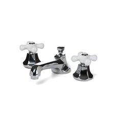 Metropolitan Widespread Bathroom Faucet with Double Porcelain Cross Handles