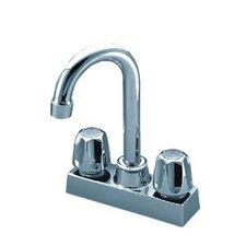 Double Handle Centerset Kitchen Faucet with Pop Up Drain