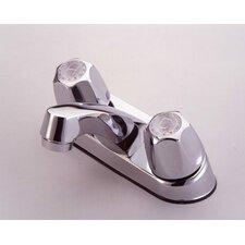Centerset Bathroom Faucet with Double Metal Knob Handles