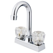 Double Handle Centerset Bar Faucet with Acrylic Handles