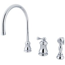 Single Handle Widespread Kitchen Faucet with Buckingham Lever Handles