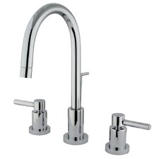 Concord Double Handle Mini Widespread Bathroom Faucet with Brass Pop-Up