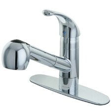Century Single Handle Pull Out Kitchen Faucet with Deck Plate