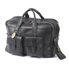 Platinum Leather Laptop Briefcase