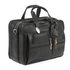 Jumbo Executive Leather Laptop Briefcase