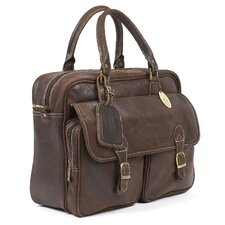 Traveler's Leather Laptop Briefcase