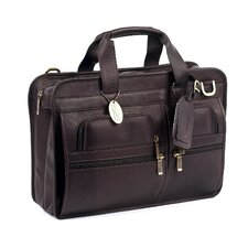 Slimline Executive Leather Laptop Briefcase