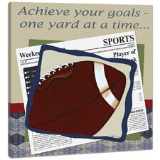 Sports Football in the News Canvas Art