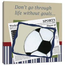 Sports Soccer in the News Canvas Art