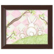 Bunny Pink Diamond by Regina Nouvel Framed Painting Print on Canvas