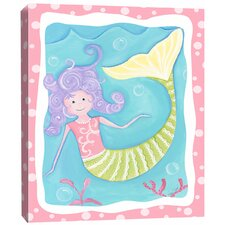 Sea Creatures Mandi the Mermaid Canvas Art