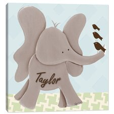 Jungle Ellis Elephant Canvas Art