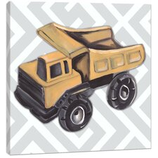 Transportation Vintage Dump Truck Toy Canvas Art