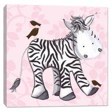 Jungle Zelda Zebra Canvas Art