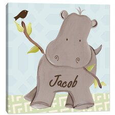 Jungle Henry Hippo Canvas Art