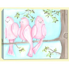 Birds and Bunnies Songbirds Two Canvas Art
