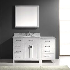 "Caroline Parkway 57"" Single Bathroom Vanity Set with Mirror"