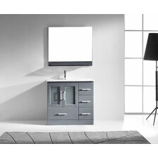 "Zola 36"" Single Bathroom Vanity Set with Mirror"