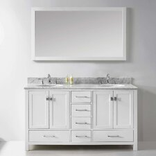 "Caroline Avenue 60"" Double Bathroom Vanity Set with Mirror"