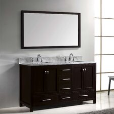 "Caroline Avenue 61"" Double Bathroom Vanity Set with Mirror"