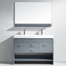 "Gloria 47"" Double Bathroom Vanity Set with Mirror"
