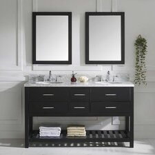"Caroline Estate 61"" Double Bathroom Vanity Set with Mirror"