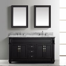 "Victoria 61"" Double Bathroom Vanity Set with Mirror"